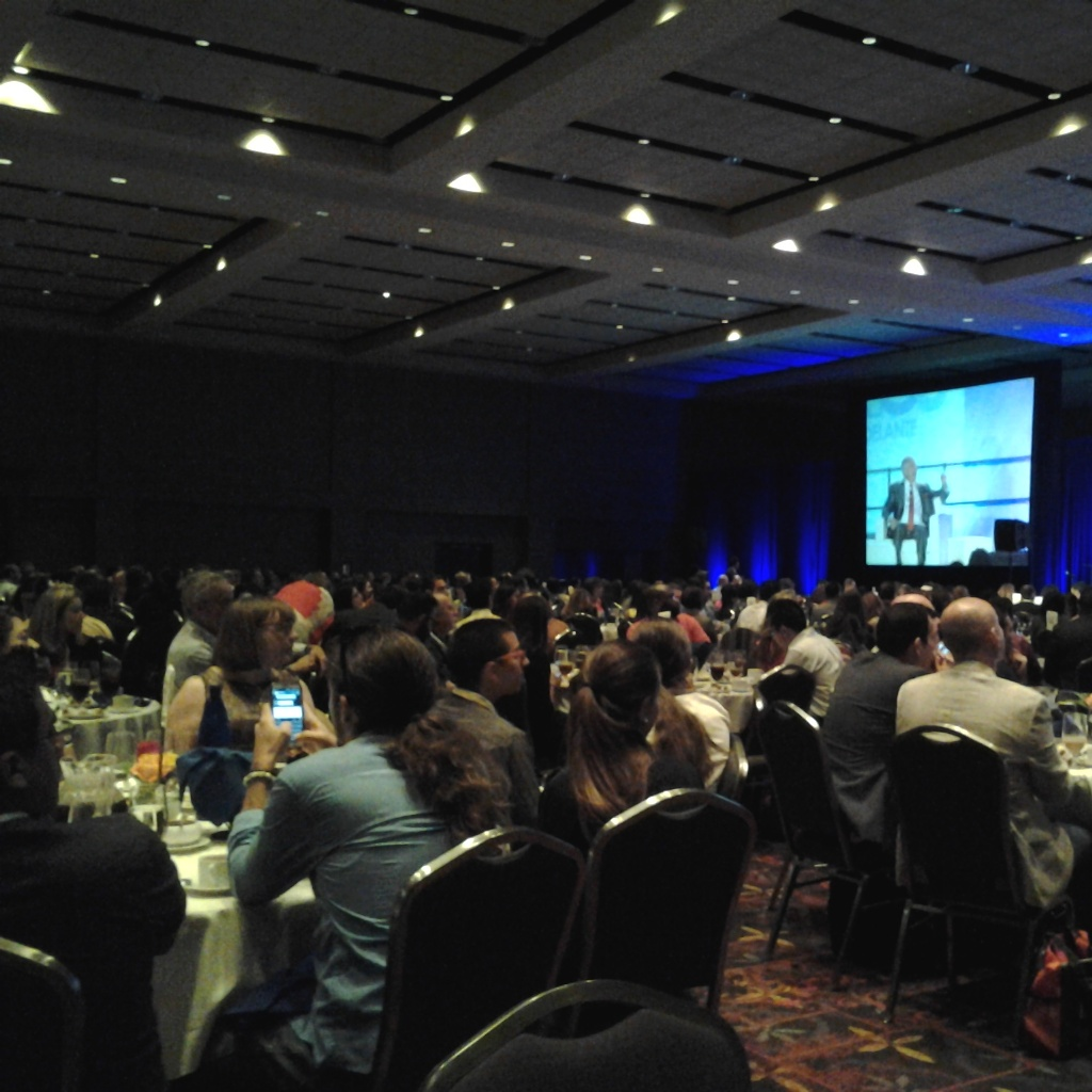 A packed house attends the Newsmakers Luncheon at the National Association of Hispanic Journalists 2014 conference. Photo by Adrian Ramirez.