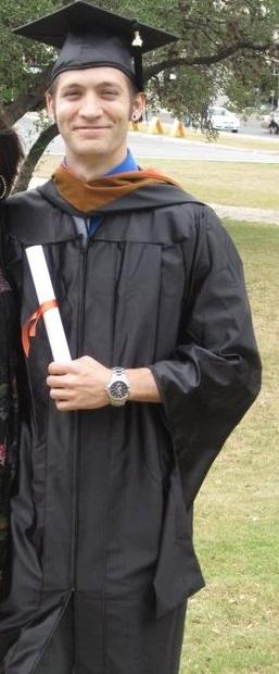 Michael Reski on graduation day. Courtesy photo.