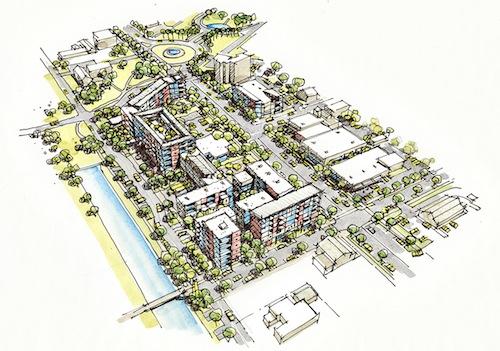 MidTown Brack Park Master Plan. Image courtesy of Alamo Architects.