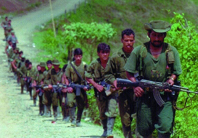 Revolutionary Armed Forces of Colombia (FARC) insurgents in 1998. Photo courtesy of the Institute for National Strategic Studies. Public domain image.