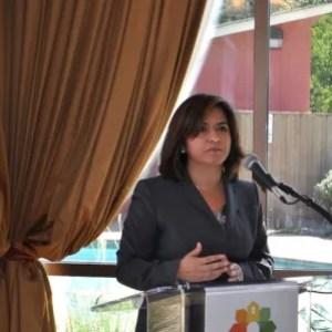 San Antonio Housing Authority President and CEO Lourdes Castro Ramírez at the San Juan development. Photo by Iris Dimmick.