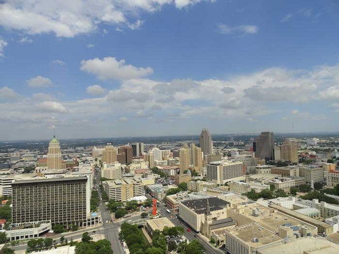 The San Antonio skyline looking west. Photo by Melissa Burnett.