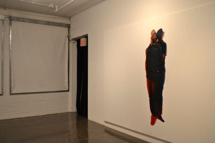 """Vincent Valdez's """"The Strangest Fruit"""" at Artpace. Photo by Alex Dubois."""