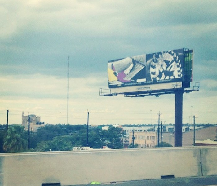 """John Baldessari's """"Manifest Destiny Billboard Project"""" will feature 10 billboards in San Antonio on the fifth chapter of the cross-country tour. Courtesy photo"""