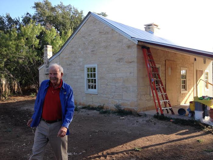 Former Mayor Phil Hardberger outside the future home of the Hardberger Park Conservancy. Photo by Robert Rivard.