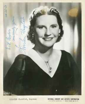 Kirsten Flagstad, Wagnerian soprano circa 1950. Photo courtesy of the San Antonio Public Library – Texana Section / San Antonio Symphony.