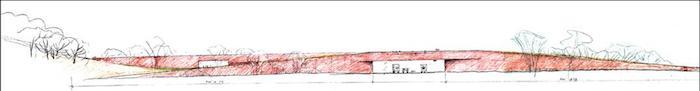 An artistic rendering of the  Hardbergrer Park land bridge. Image courtesy of the Phil Hardberger Park Conservancy.