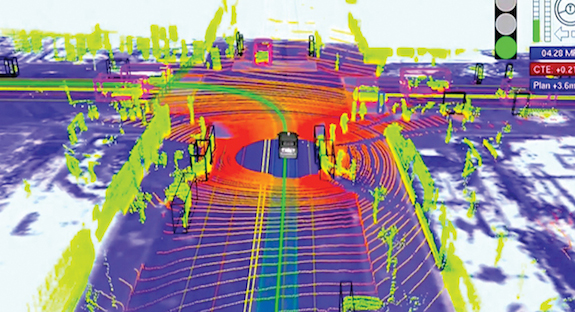 A device using LIDAR mounts on top of a vehicle, has 64 lasers that generate millions of data points per second, and is a potential game changer in the world of autonomous vehicle technology.