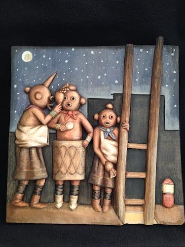 "Mavasta Honyouti's carving entitled ""Night Dance Series #2."" Image courtesy of the artist."