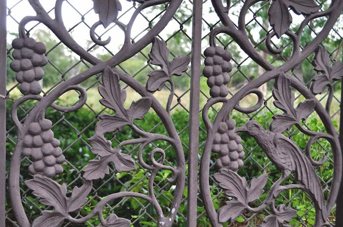 Detail of a gate on the Red Berry Estate grounds. Photo by Iris Dimmick.
