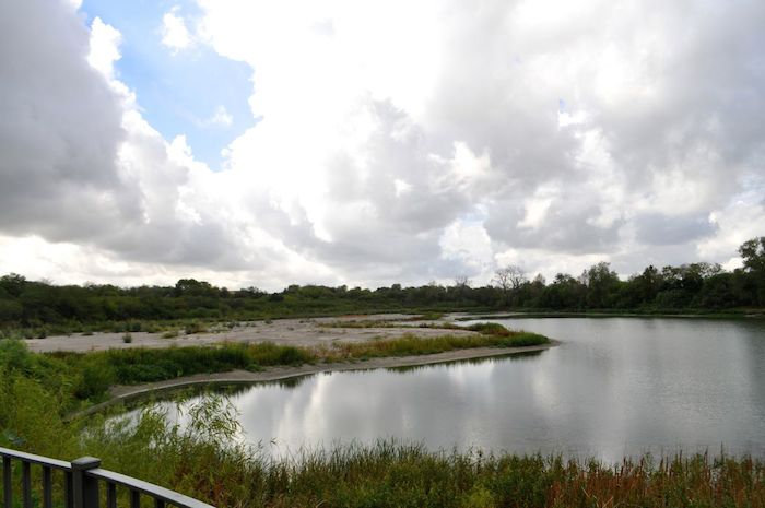 The artificial lake on the Red Berry Estate. Photo by Iris Dimmick.
