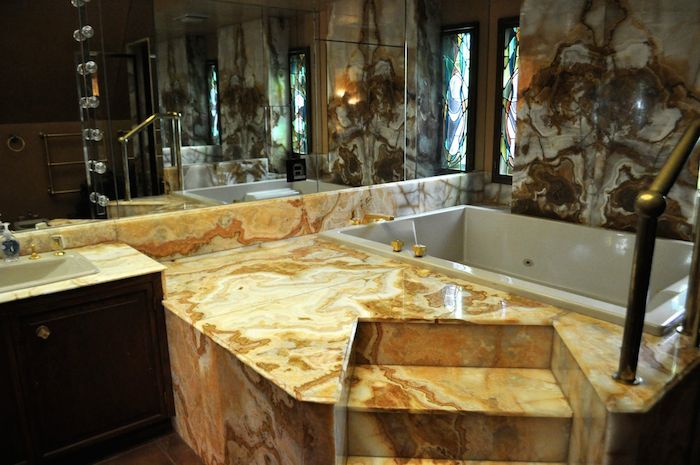 The master bathroom in the Red Berry Mansion. Photo by Iris Dimmick.