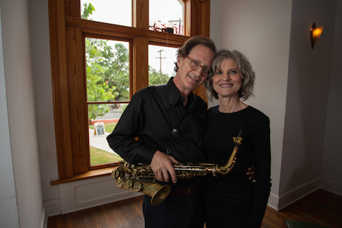Jazz musicians Katchie Cartwright and Richard Oppenheim. Photo by Stephen McDowell.