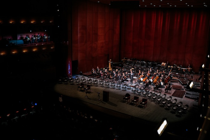 The San Antonio Symphony at the Tobin Center for opening day celebrations. Photo by Scott Ball.