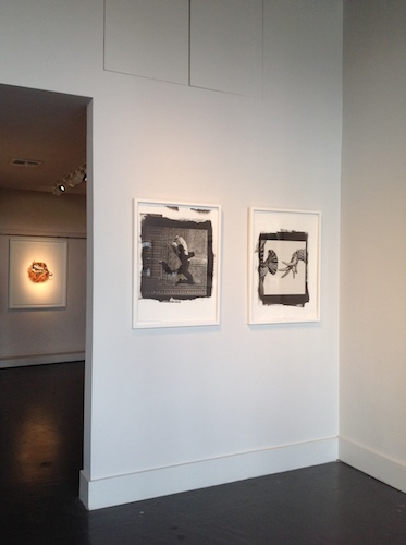 Works by Isabel Muñoz hang on the wall at Ruiz-Healy Art