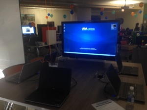 The UTSA GroupSpot study room. Photo by Sarah Gibbens.