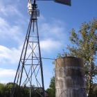 The windmill at the Voelcker Homestead has been restored at Hardberger Park. Photo by Robert Rivard.