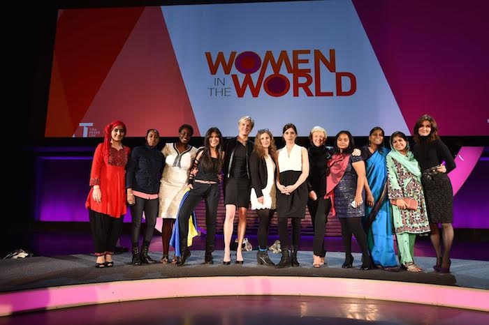 Speakers from the 2014 Women in the World summit gather for a group photo. Courtesy photo.
