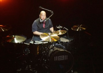 Drummer Abe Laboriel, Jr. performs with Paul McCartney at the Tobin Center. Photo by Alan Weinkrantz.