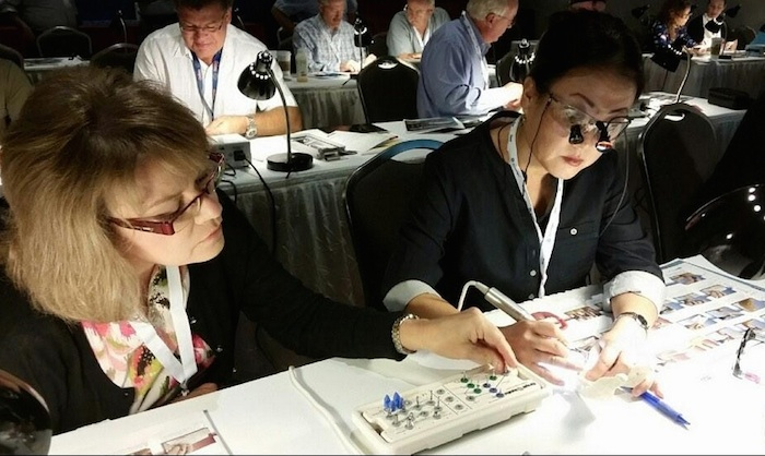 2014 American dental Association conference attendees learn new skills during a workshop. Photo courtesy of the American Dental Association Twitter @AmerDentalAssn.