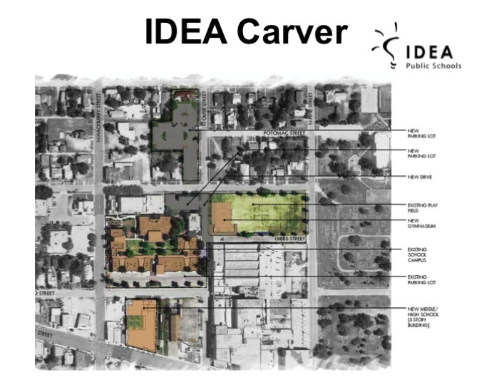A rendering of the new layout of IDEA Carver Academy. Image courtesy of IDEA Carver Academy.