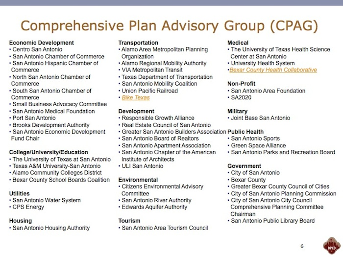 Look carefully, your organization may be on this Comprehensive Plan Advisory Group list.