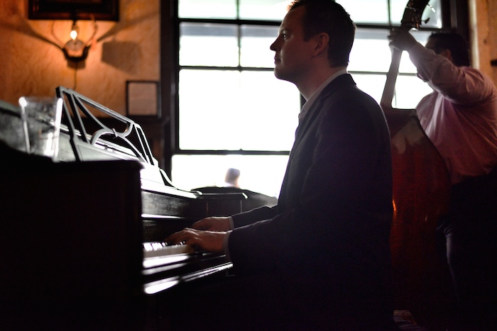 """Brent """"Doc"""" Watkins performs with a South Texas Jazz ensemble at the Esquire Tavern. Photo by Kody Melton."""