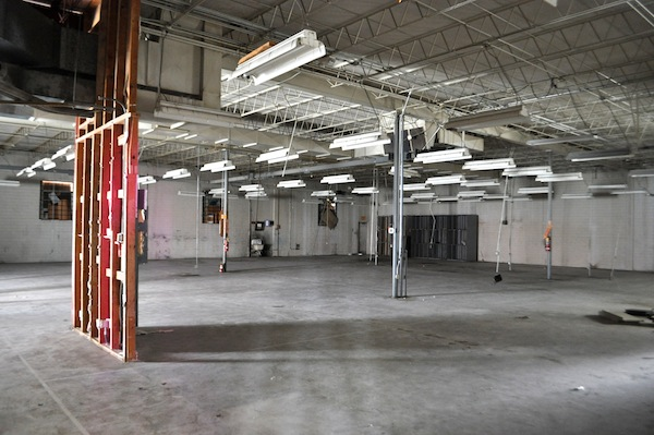 The LocalSprout operation takes up only a small corner of a large warehouse on the Eastside.   Plenty of room for arts and entertainment. Photo by Iris Dimmick.