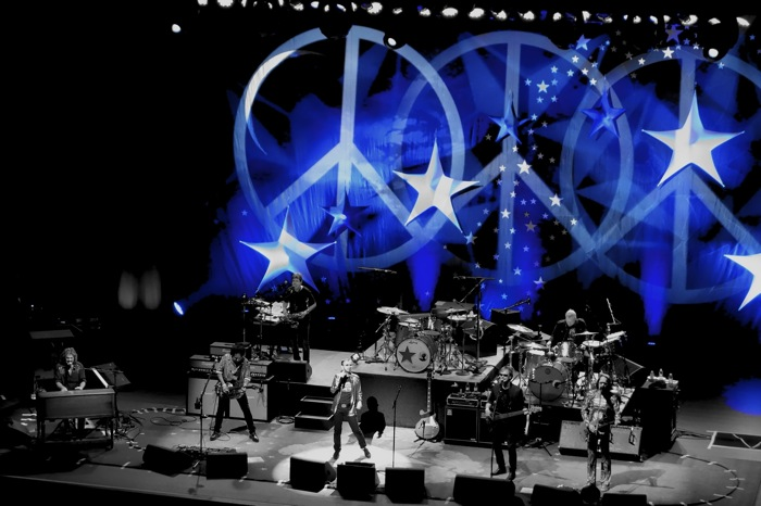 Peace and Love in Blue: Ringo Starr and His All-Starr Band perform at the Tobin Center for the Performing Arts. Photo by Alan Weinkrantz.