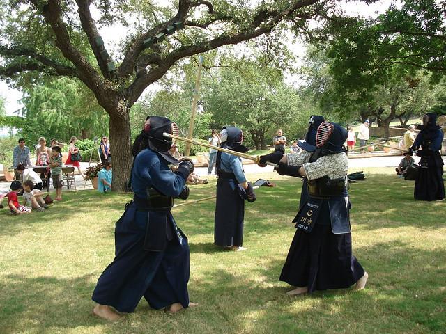 the River City laido & Kendo practice. Photo courtesy JASSA.