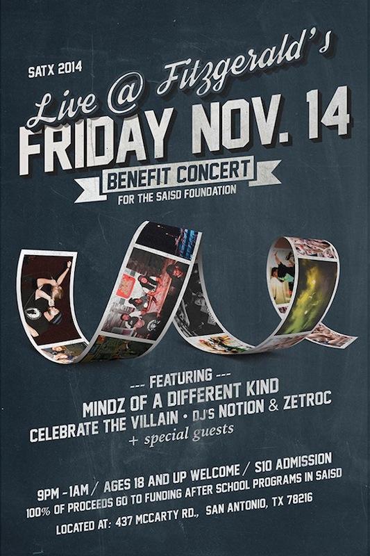 SAISD FOUNDATION benefit concert 2014 flyer