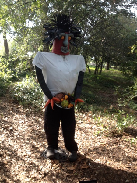 A scarecrow featured on the Scarecrow Trail at the San Antonio Botanical Garden's Bootanica! event last year. Courtesy photo