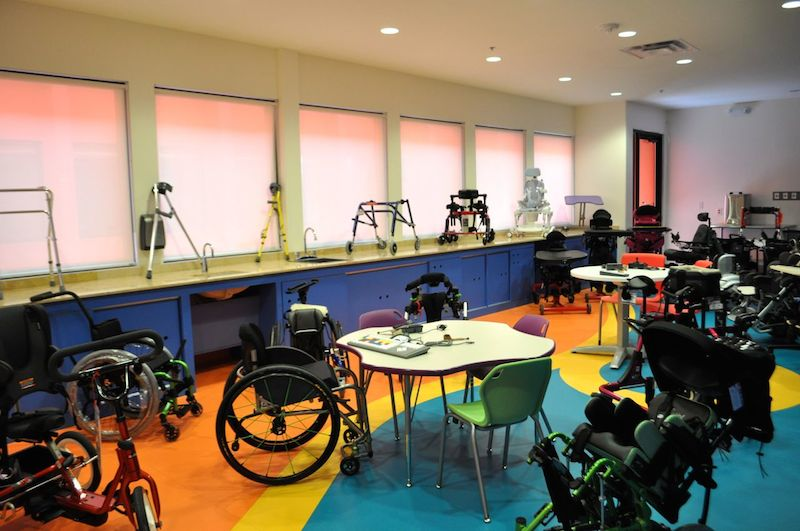 Equipment of all shapes and sizes are available to assist children with disabilities at CRIT USA. Photo by Iris Dimmick.