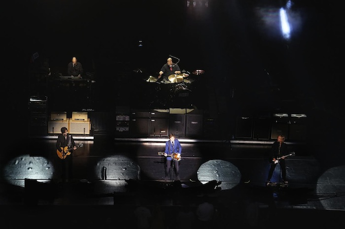 Paul McCartney and his band perform at the Tobin Center. Photo by Alan Weinkrantz.
