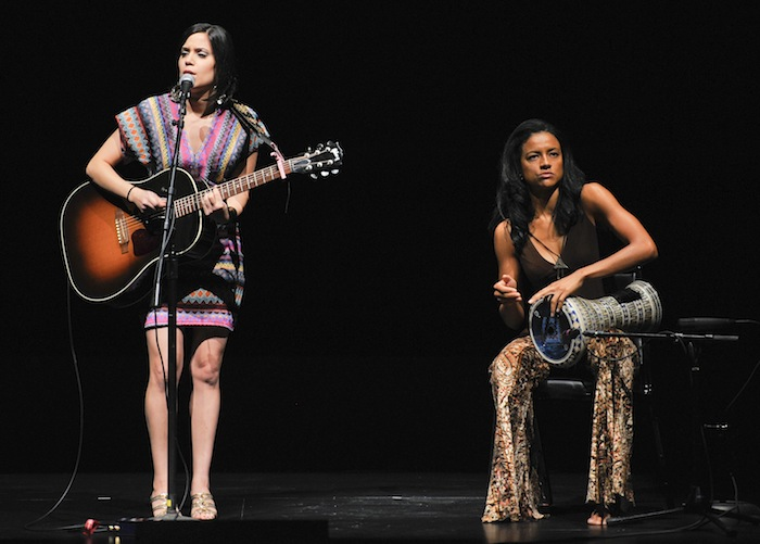 Singer-songwriter Omnia Hegazy performs during the Women In The World Texas Forum, presented by Tina Brown Live Media, Wednesday, Oct. 22, 2014, at the Charline McCombs Empire Theatre in San Antonio, Texas. Photo by Robin Jerstad/DA Media for Women in the World.