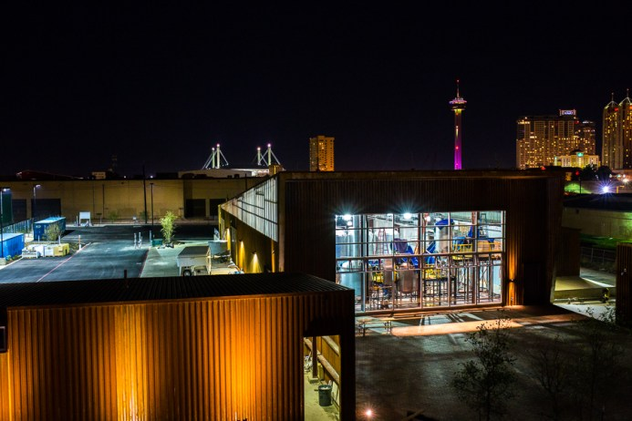 Alamo Beer at Night from the Hays Street Bridge. Photo by Scott Ball.