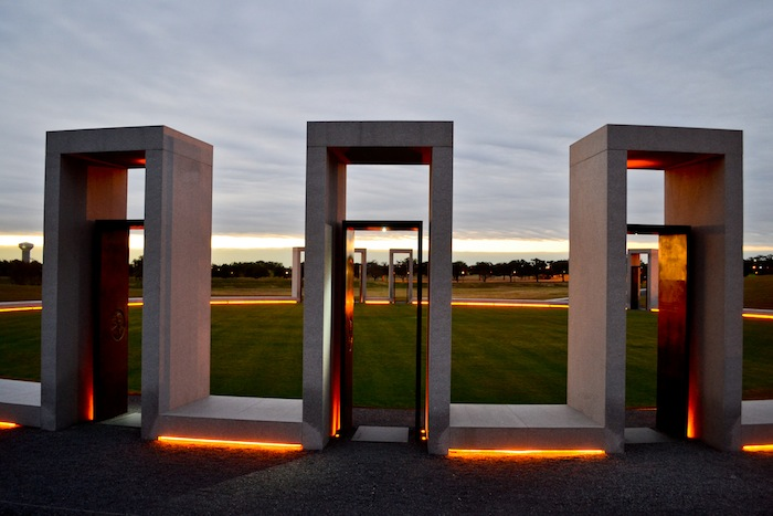 The Spirit Ring at the Texas A&M University Bonfire Memorial. Photo by Alex Richter.