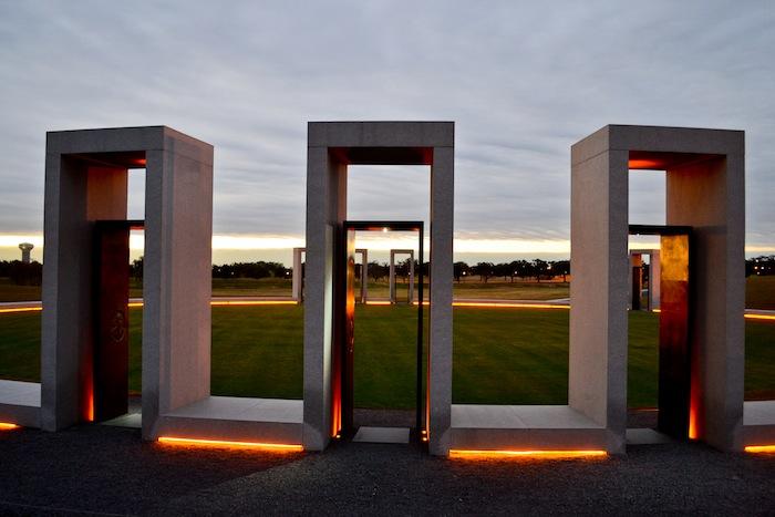 The Spirit Ring at the Texas A&M University Bonfire Memorial. Photo by Alex Richter.