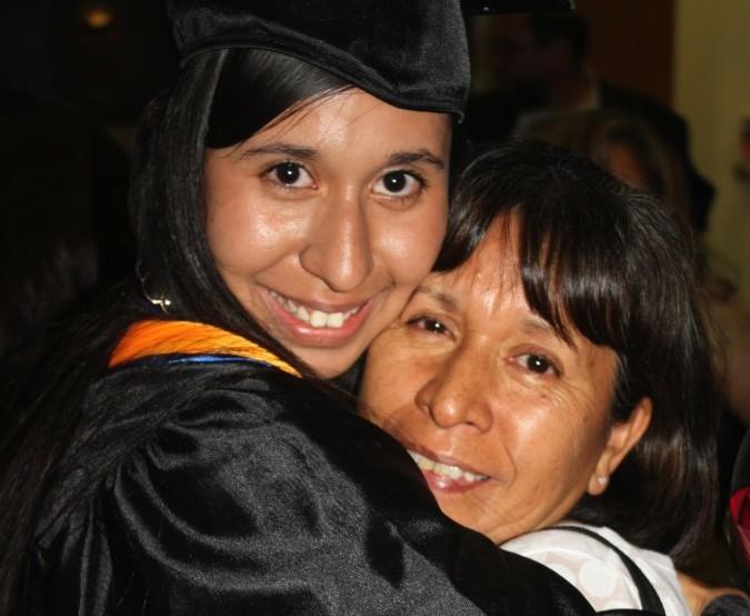 Carolina Canizales: making her Mamá proud on graduation day at UTSA. Courtesy photo.
