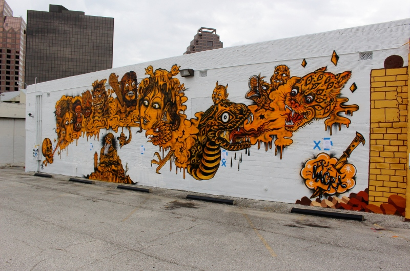 Dr. Lakra's Luminaria mural in downtown San Antonio. Photo by Page Graham.