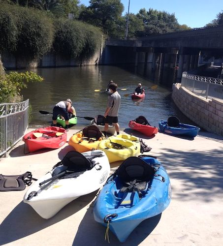 There are many ways to travel the length of the Eagleland and Mission Reaches, including kayaking. Photo by Robert Rivard.