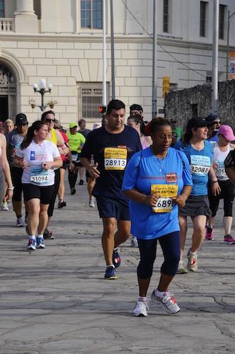 Martin Acevedo running in the Rock 'N' Roll San Antonio marathon. Courtesy photo.