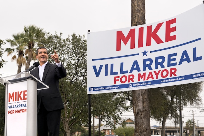 Mike Villarreal kicks of his mayoral campaign in November 2014. Photo by Al Rendon.