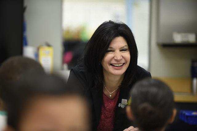National Education Association President Lily Eskelsen García visits Southwest Elementary school. Photo courtesy of the National Education Association.