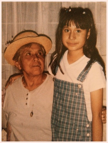 The last photo of Carolina Canizales and her grandfather together. She was nine years old. Courtesy photo.