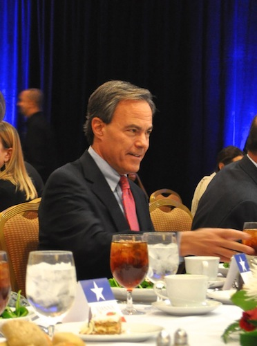 Texas House Speaker Joe Straus (R-Dist. 121) was the keynote speaker at the San Antonio Chamber of Commerce luncheon. Photo by Iris Dimmick.