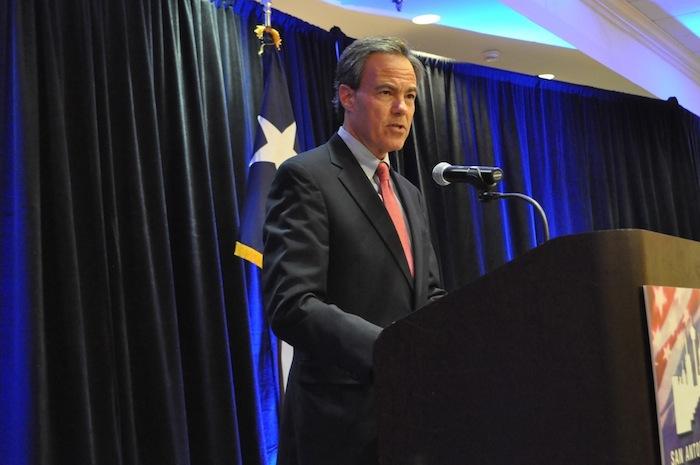 Texas House Speaker Joe Straus (R-Dist. 121) was keynote speaker at the San Antonio Chamber of Commerce luncheon. Photo by Iris Dimmick.