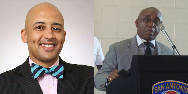 Alan Warrick II (left) and District 2 Councilmember Keith Toney. Courtesy photos.