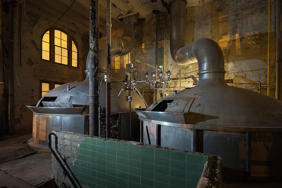 The Pearl brewing kettle during construction. Photo by Scott Martin.