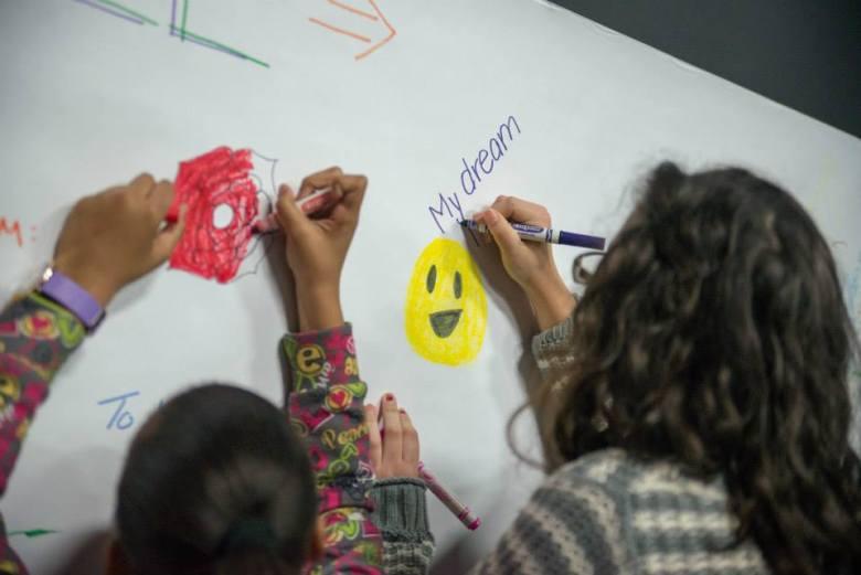 Participants engage in DreamWeek activities at SaySí. Photo by Sarah Brooke Lyons.